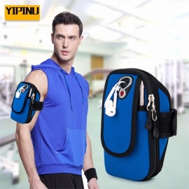 YA15 Outdoor Sports Fitness Running Arm Bag Breathable Waterproof Mobile Armband Universal Sports Cell Phone Holder Black