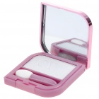 Cosmetic Make-Up Eye Shadow Kit with Mirror + Brush - White
