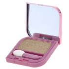 Cosmetic Make-Up Eye Shadow Kit with Mirror + Brush - Gold
