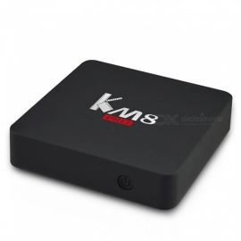 KM8 pro caja de TV inteligente amlogic S912 octa core 2 GB 16 GB bluetooth 4.0 2.4G / 5G WIFI banda dual wifi reproductor de medios set top box enchufe de los Estados Unidos / negro