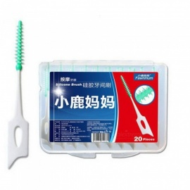 Toothpick Push-Pull Interdental Brush 20pcs/pack Oral Hygiene Care 0.7mm Orthodontic Floss Brushes Tooth Clean Tool L3
