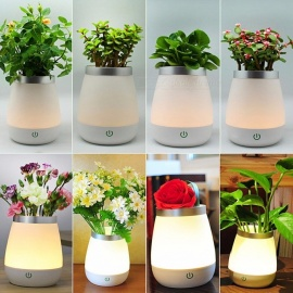 Flowers Vase Lamp USB LED Atmosphere Light Novelty Bedside Night Lights Table Desk Lamp Gifts Christmas Kids Home Decor Warm White/White/0-5W
