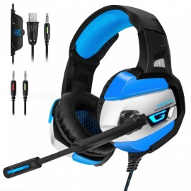 Gaming Headphones Deep Bass Stereo Game Headset With Microphone LED Light Wired Earphone For Laptop Computer PC PS4 Xbox Gray