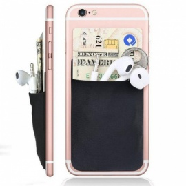 Fashion Creative Elastic Lycra Cell Phone Wallet Case Women Men Credit ID Card Holder Pocket Stick 3M Adhesive 9.9*5.5cm 1