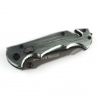 Cool Metal Manual-Release Folding Pocket Knife with Clip - Silver Grey