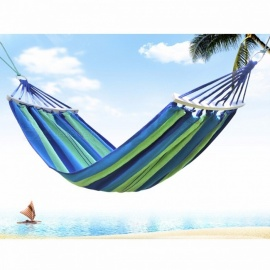 Prevent Rollover Hammock Spreader Canvas Hammocks Bar Garden Camping Swing Hanging Bed Blue Red Colors Red