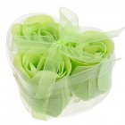 Rose-Scented Heart Shaped Seifen - Green (5-Pack)