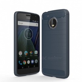 Dayspirit Wire Drawing Carbon Fiber TPU Case for Motorola Moto G5 - Navy