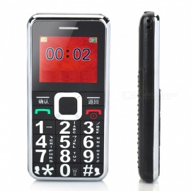Unlocked Big Button Mobile Phone For Elderly Senior With Sos Button, FM, Loud Speaker - Black