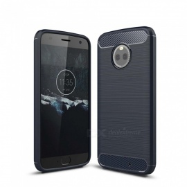 Dayspirit Wire Drawing Carbon Fiber TPU Back Case for Motorola Moto X4 - Navy