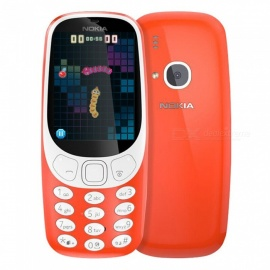 Nokia 3310 2.4 Inch Screen 2.0MP Mobile Phone GSM 1200mAh Dual SIM - Red
