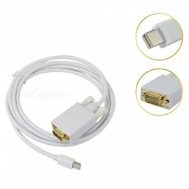 MINI DP to VGA HD Video Cable Support 1920 x 1200 1080P for MacBook / PowerBook - 180cm