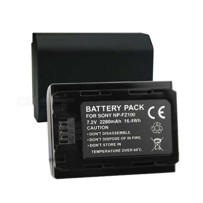 7.2V/2280mAh Full Decoded NP-FZ100 Li-ion Battery for Sony ILCE-9/A9/A9R/Alpha 9S/A7RIII/A7RM3