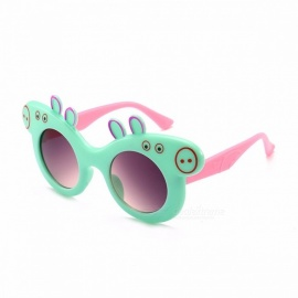 Children\'s Cartoon Sunglasses Children\'s Glasses Piggie Plastic Frame Cute Baby Polarized Sunglasses Green