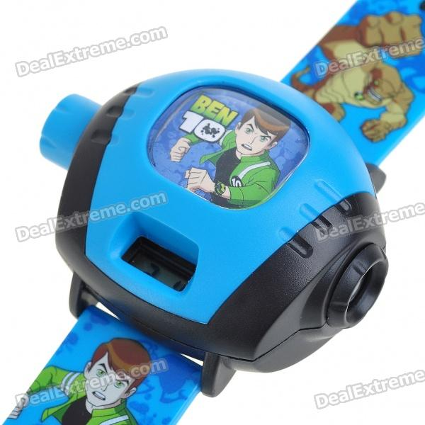 Kids Projector Digital Wrist Watch - Random Style (4xLR41)