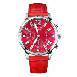 Casio SHN-5010L-4A Sheen Swarovski Elements Chronograph Watch-Red
