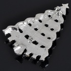 Charming Christmas Tree Style Imitated Diamond Alloy Brooch - White