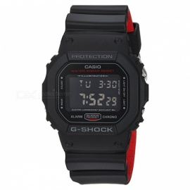 Casio G-Shock DW-5600HR-1 Heritage Color Series Watch-Black x Red