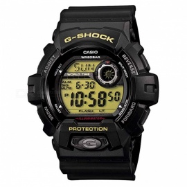 Casio G-Shock G-8900-1 World Time Alarm Timer Black Aluminum Watch-Black