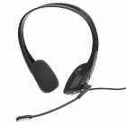 HYUNDAI On-Ear Closed Back Hi-Fi Stereo Headphones with Microphone - Black (3.5mm Jack/200CM-Cable)