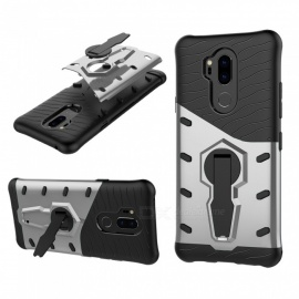 TPU + PC Case w/ Holder Stand for LG G7 - Silver