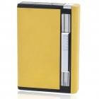 2-in-1 Cigarette Case with Butane Jet Torch Lighter - Yellow (Holds 8 Cigarettes)