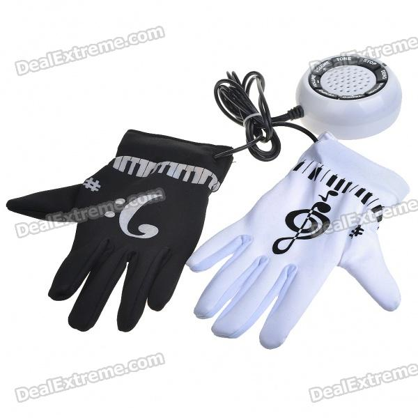 Novelty Electronic Piano Musical Instrument Gloves (4*AAA) novelty run around wake up n catch me digital alarm clock on wheels white 4 aaa