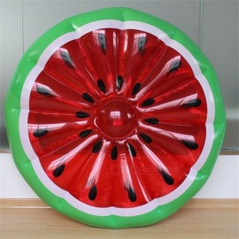 150cm Giant Inflatable Watermelon Pool Float Row Ride-On Swimming Ring Water Holiday Party Toys Piscina Funny Swimming
