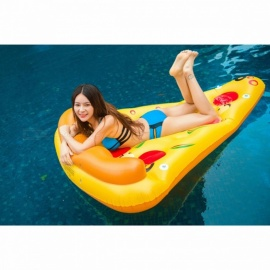 180*150cm Giant Inflatable Pizza Pool Float Ride-On Swimming Ring Water Holiday Party Toys Piscina Funny Swimming Laps