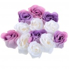 Unique Roses Soaps with Gift Box (12-Piece Set/Color Assorted)