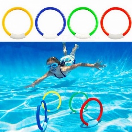 1Set Of 4Pcs Dive Rings Throwing Toys Swimming Pool Diving Game Summer Children Underwater Diving Ring Water Sport