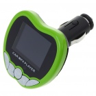"1.8"" LCD Car MP3/MP4 Player FM Transmitter with Remote Controller - Green (SD/MMC/USB)"