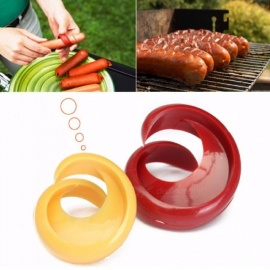 2PCs Manual Sausage Cutter Spiral Barbecue Hot Dogs Cutter Slicer Kitchen Cutting Auxiliary Gadget Fruit Vegetable Tools