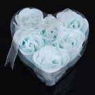 Romantic Bath Soaps Flower Rose Petals with Fragrance - Light Blue (2-Pack)