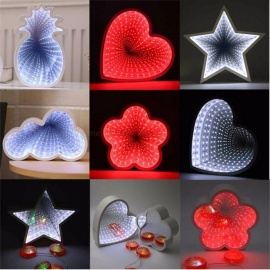 Love Heart Style 3D Night Light Cute Led Lights For Kid Baby Sleeping Room Wall Decor Lamp Christmas Holiday Toy Gifts