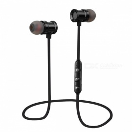 K9 Bluetooth Headset Metal Magnetic Stereo Sport Music Headphones Universal With Mic Support TF Card For Phones - Black