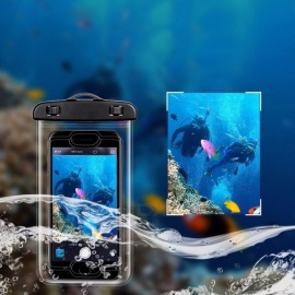 USAMS YD009 IPX8 10M Universal Waterproof Diving Swimming Case Bag For IPHONE, Samsung, Huawei, Xiaomi Black