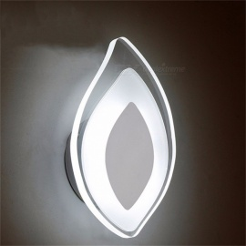 hoja creativa pared luz de la pared moderna lámpara de pared de acrílico de interior decorativa dormitorio lámpara de cabecera de la pared blanco / 6-10w / warm white (2700-3500K)