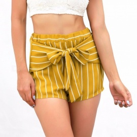 sexy high waist stripe shorts dames zomers casual comfortabele hotshorts geel / s
