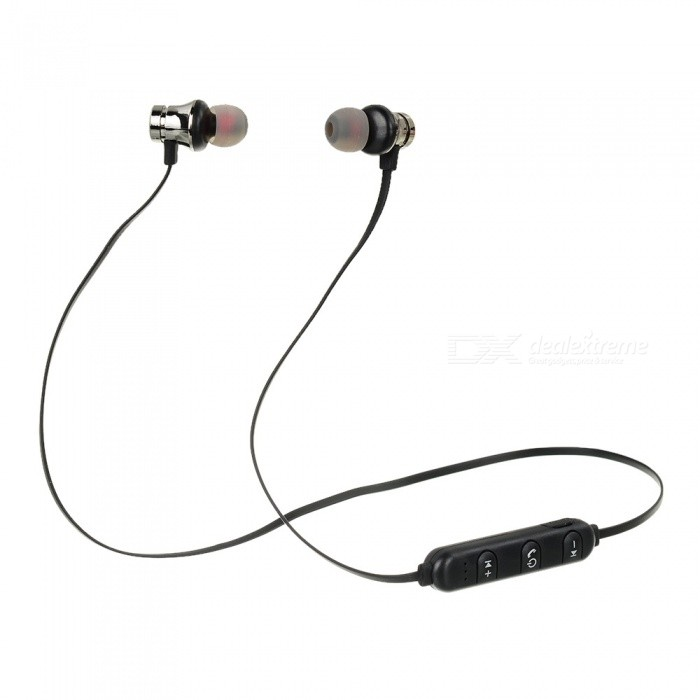 89095731e69 XT-11 Bluetooth Headphone Magnetic Earphones Wireless Sports Bass Music  Earphones With Microphone Headset For Samsung Black - Free shipping -  DealExtreme
