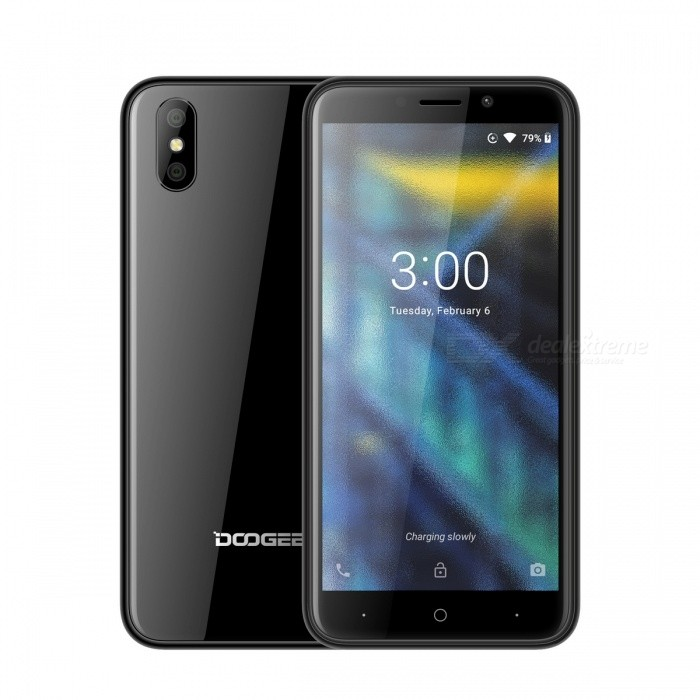 "DOOGEE X50 5.0"" Full Screen Android GO (Based on Android 8.1) 3G Phone w/ 1GB RAM, 8GB ROM - Black"
