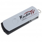 Compact USB Worldwide Internet TV/Radio/Games/MTV Stations Player Dongle (Silver + Black)