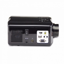 Portable Mini LED Cinema Video Digital HD Home Theater Projector 1500lm 1080P Beamer Projector With USB HDMI AV SV red