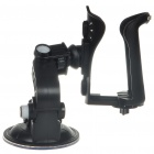 Plastic Car Holder Mount with Suction Cup for Vacuum Cup/Bottle & More - Black