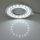 High Intensity White 18-LED Flexible USB Lamp Light with Triple Magnifier (3*AAA/USB Charging)