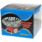 Compact Portable Windproof Camping Gas Stove with Metal Gas Pipe (2*AG3)