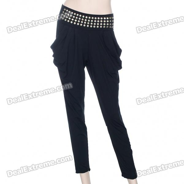 Stylish High-Elastic British Style Ankle Pants - Color Assorted