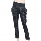 Stylish High-Elastic British Style Ankle Pants - Charcoal