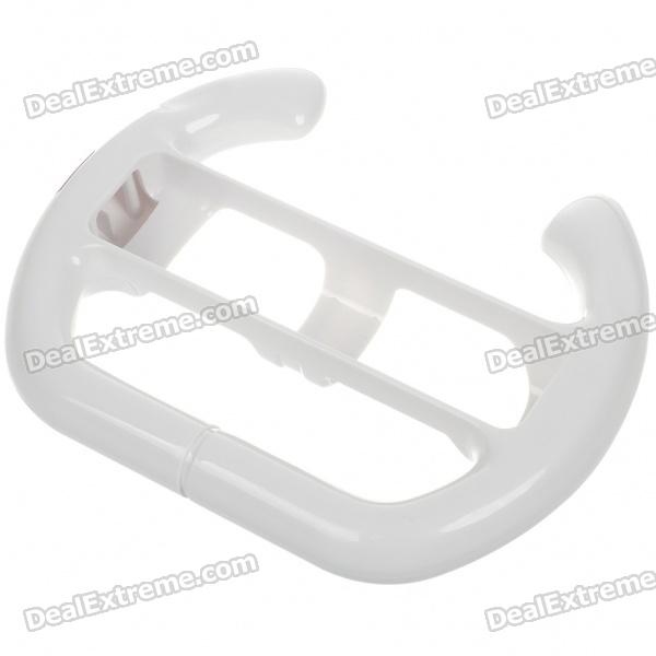 Driving Wheel Accessories for Wii Remote - White