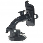 Plastic Car Swivel Mount Holder with Suction Cup for Iphone 3g - Black (360 Degree)
